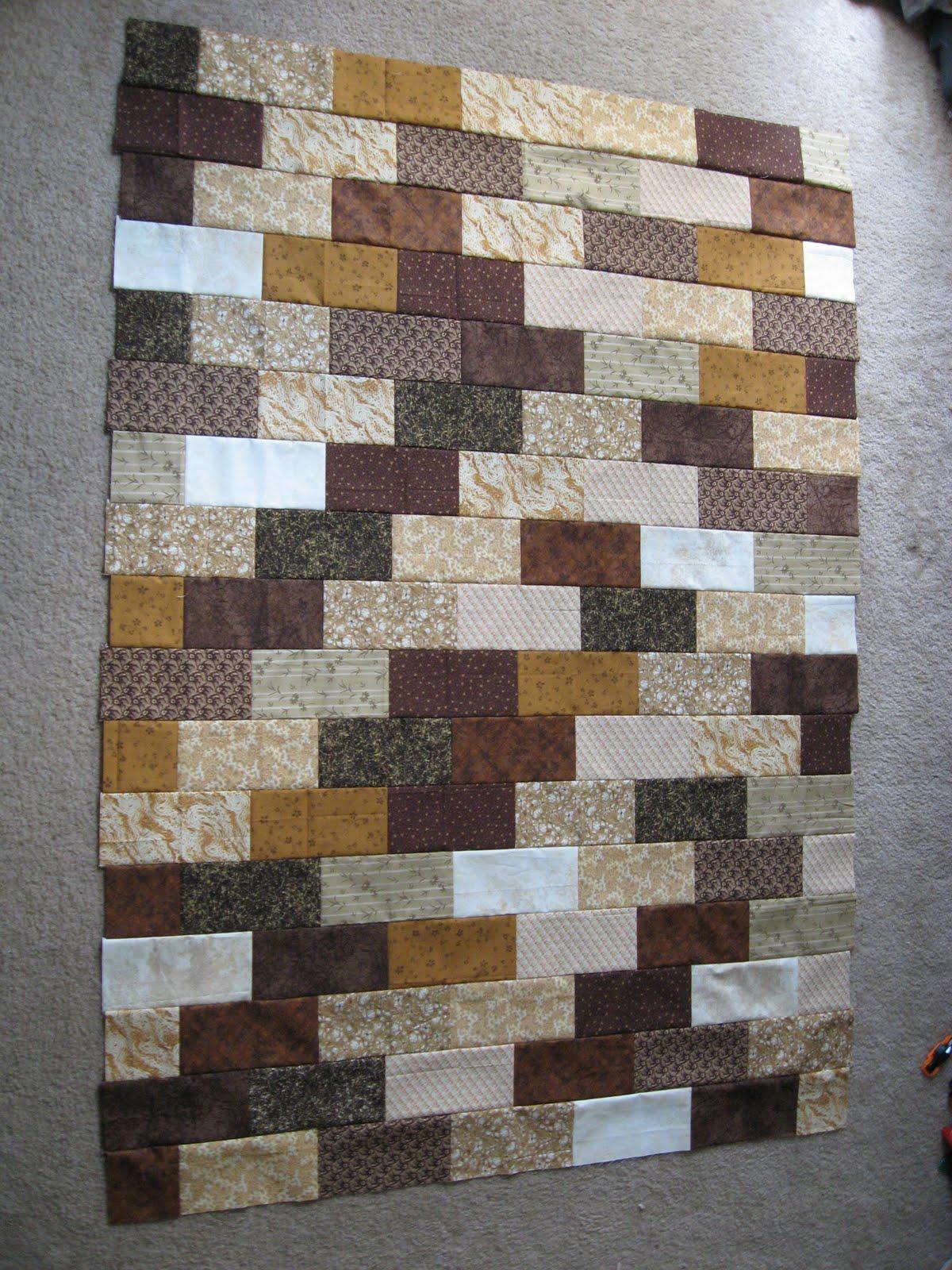 The Brick Wall Quilt Pattern | BlueStripedRoom : brick quilt - Adamdwight.com