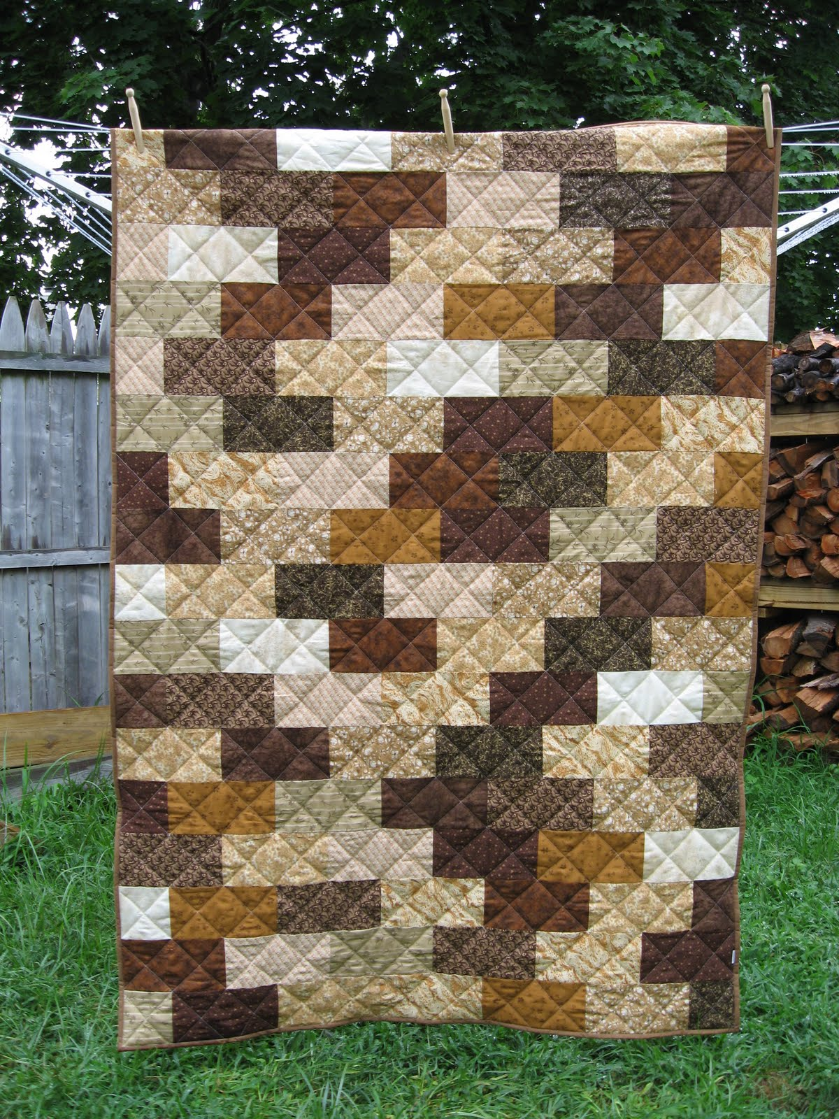 The Brick Wall Quilt Pattern BlueStripedRoom