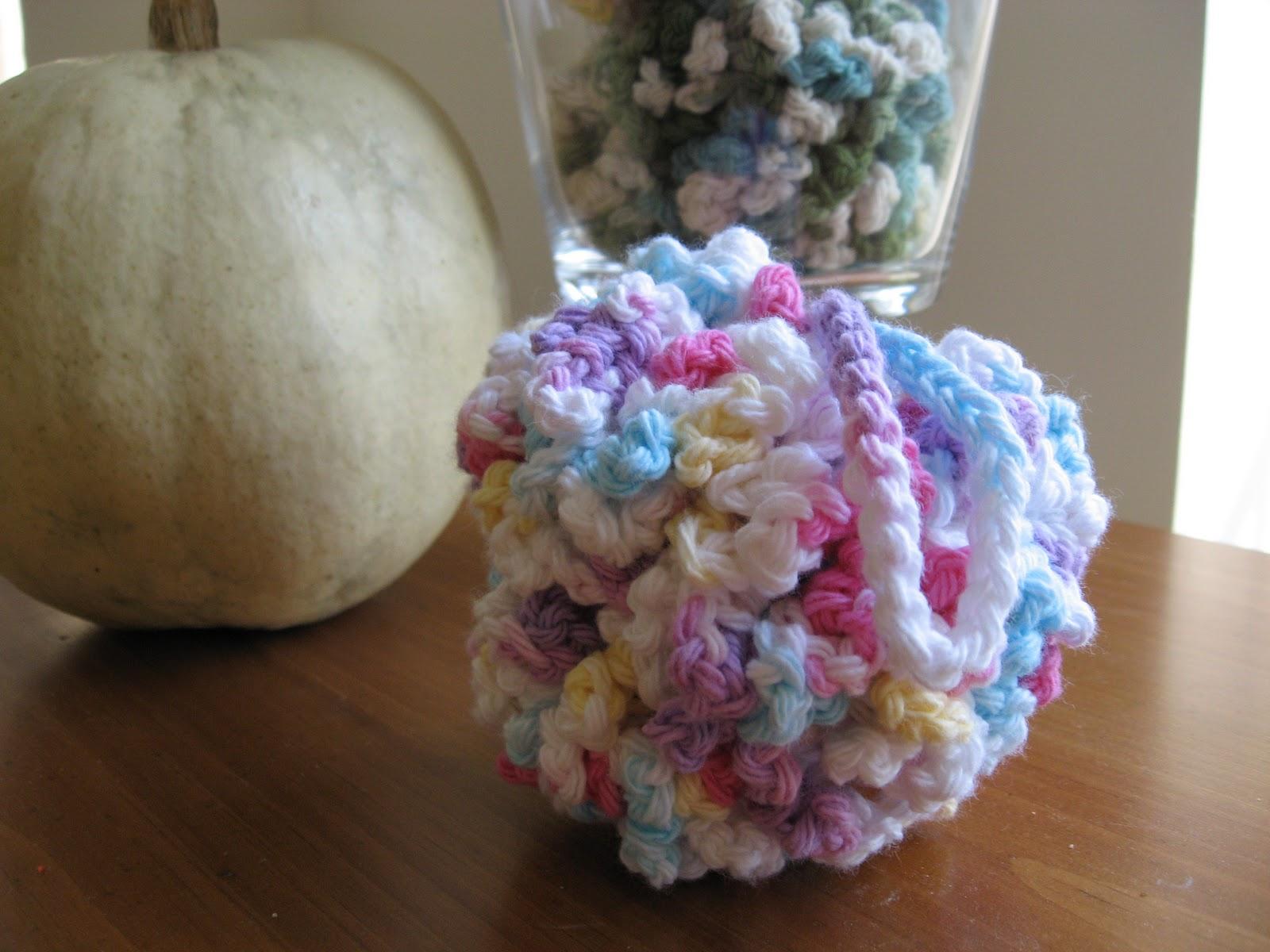 Free Crochet Pattern Bath Pouf : Crochet Shower Puff BlueStripedRoom