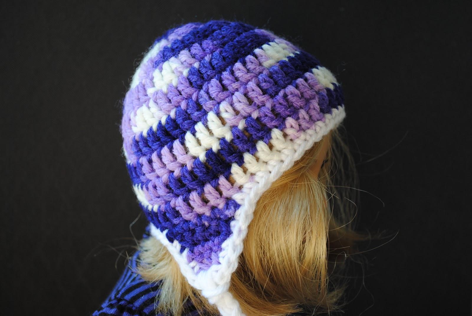 Earflap Hat for 18inch Doll – Free Pattern | BlueStripedRoom